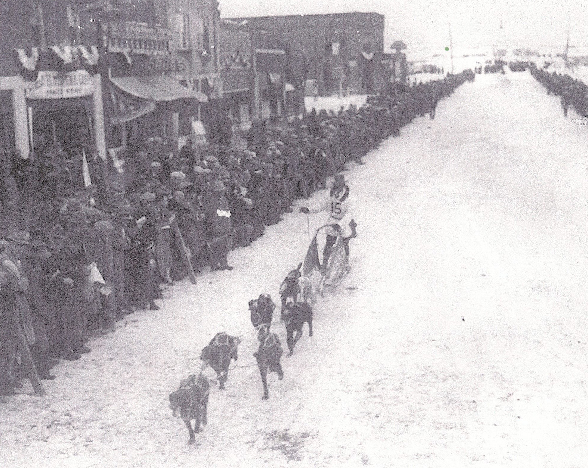 Classic Shot of Huge Crowds and Musher